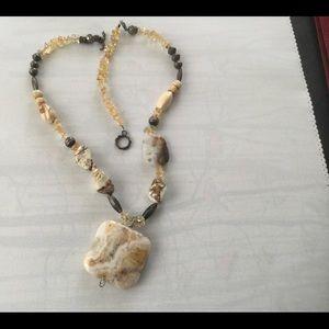 Jewelry - Jasper and citrine necklace
